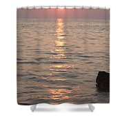 Pink Sunset Over The Istrian Peninsula Shower Curtain