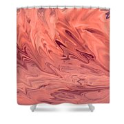 Pink Surge Shower Curtain
