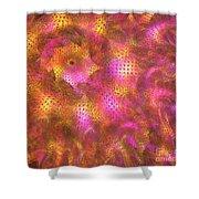 Pink Swirl Waves Shower Curtain