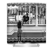 Pink Temptations - Bw Shower Curtain