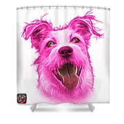 Pink Terrier Mix 2989 - Wb Shower Curtain