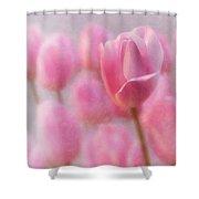 Pink Tulip Crowd Shower Curtain