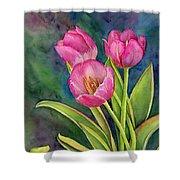 Pink Tulip Twist Shower Curtain