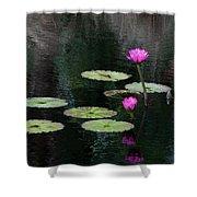 Pink Waterlillies Shower Curtain