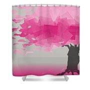 Pink Wind Shower Curtain