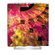 Pink Windows Shower Curtain