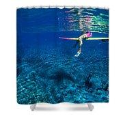 Pink & Yellow Surfboard Shower Curtain