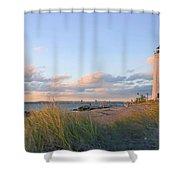 Pinkish Lighthouse Shower Curtain