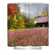 Pinks In The Pasture Shower Curtain