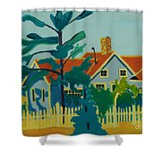 Pinkys House On Monhegan Shower Curtain