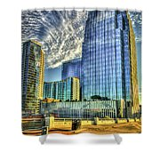 Pinnacle Building Sunset Nashville Shadows Nashville Tennessee Art Shower Curtain