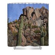 Pinnacle Peak Landscape Shower Curtain