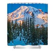 Pinnacle Saddle Winter Shower Curtain