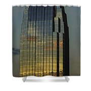 Pinnacle Sunset Reflection Shower Curtain