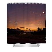 Pinnacles Sunrise Shower Curtain