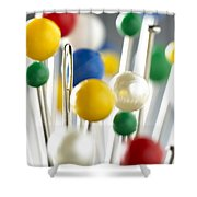 Pins And Needle Shower Curtain