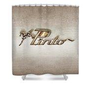 Pinto Car Badge Shower Curtain