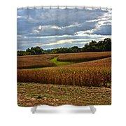 Pinwheel Cornfield Shower Curtain