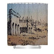 Pioneer Ghost Town Montana Shower Curtain