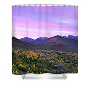 Pioneer Mountain Sunset Shower Curtain
