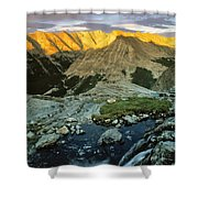 Pioneer Mountains Shower Curtain