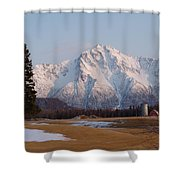 Pioneer Peak Alaska Shower Curtain