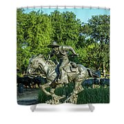 Pioneer Plaza Cattle Drive Monument Dallas Shower Curtain