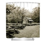 Pioneers Cabin Shower Curtain