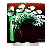 Pipe Curl Shower Curtain