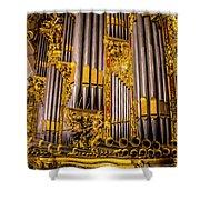 Pipe Organ Detail Shower Curtain