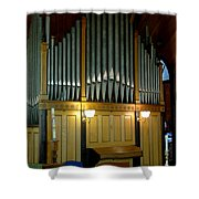 Pipe Organ Of Old Shower Curtain