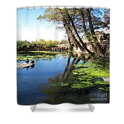 Pipe Springs Pond Shower Curtain