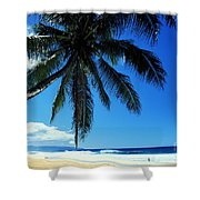 Pipeline Beach Shower Curtain