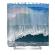Pipeline Rainbow Shower Curtain