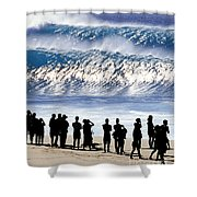 Pipeline Shadow Land - 2 Of 3 Shower Curtain