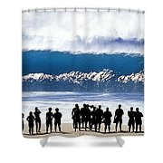 Pipeline Shadowland - 1 Of 3 Shower Curtain