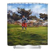 Piper At Spanish Bay Shower Curtain