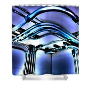 Pipes In Third Dimension Shower Curtain