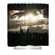 Piprell Lake Saskatchewan Shower Curtain