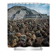 Piramide De La Luna Shower Curtain