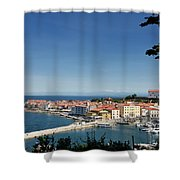 Piran Slovenia Gulf Of Trieste On The Adriatic Sea From The Punt Shower Curtain