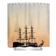Pirate Boat Shower Curtain