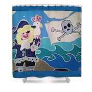 Pirate Captain Shower Curtain
