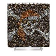 Pirate Coins Mosaic Shower Curtain