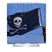 Pirate Flag Skull And Cross Bones Shower Curtain