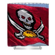 Pirate Football Shower Curtain