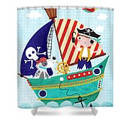 Pirate Of The Carribean Shower Curtain