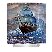 Pirate Ship 1 Shower Curtain