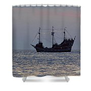 Pirate Ship At Clearwater Shower Curtain