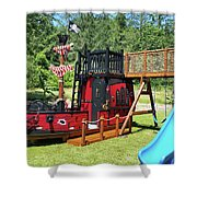 Pirate Ship Playhouse Wood Pirate Ship Playhouses Shower Curtain